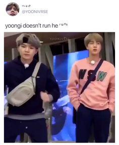 yoongi 🏹💜 - 。 ・: *: ・ ゚ ★ ,。 ・: *: ・ ゚ ☆。 ・: *: ・ ゚ ★ ,。 ・: *: ・ ゚ ☆。 - Bts Funny Videos, Bts Memes Hilarious, Min Yoongi Cute, Foto Bts, Bts Video, Foto E Video, Bts Bangtan Boy, Bts Jungkook, J Hope Dance