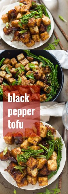 This crispy black pepper tofu is smothered in spicy sauce and served up with tender-crisp broccolini (or your favorite veggie). Serve over rice for a flavor-packed meal that's totally doable on a weeknight.