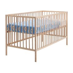 IKEA - SNIGLAR, Crib, , The bed base can be placed at two different heights.One bed side can be removed when the child is able to safely climb into and out of the bed.Your baby will sleep both safely and comfortably as the durable materials in the crib base have been tested to ensure they give their body the support it needs.The crib base is well ventilated for good air circulation which gives your child a pleasant sleeping climate.