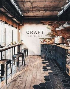 44 trendy Ideas for bathroom interior design wood architecture Design Café, Cafe Design, Wood Design, Design Ideas, House Design, Brick Design, Design Shop, Design Color, Texture Design