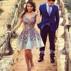 Laço roxo vestido curto baile de finalistas, vestido do baile