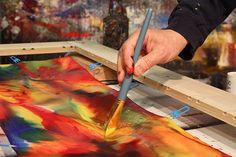 Hand-Painted Silk Scarves by Jonas Gerard
