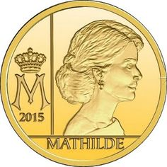 Belgium Euro Gold Coin 2015 Queen Mathilde of Belgium Collector coin series: Anniversary of the Belgian Royal Dynasty Qu. Euro Coins, All Currency, Gold And Silver Coins, Commemorative Coins, Gold Bullion, World Coins, Coin Collecting, Investing, Stamps
