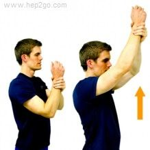 Frozen Shoulder Exercises: Assisted Flexion. Approved use by www.hep2go.com