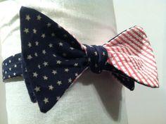 American Flag Bow Tie by Phi Ties
