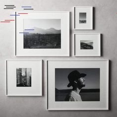 picture wall ideas Shop Gallery White Frames with White Mats. Exhibit your favorite photos and images gallery-style. White mat floats one photo within a sleek picture frame of bri 11x14 Picture Frame, Unique Picture Frames, Picture Frame Crafts, Photo Frame Ideas, Wall Picture Frames, Picture Frame Display, Photo Frame Design, 16x20 Frame, Diy Picture Frames On The Wall