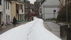 Inondations à Pontivy. Barrage gonflable : une première en France