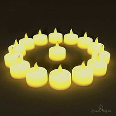 BEST FLAMELESS TEA LIGHTS24 PackFlameless Candles No DripsNo MessBonus 6 Designer Decorating BagsBattery Tea Lights for WeddingHome Decor  ChristmasYellow Flickering Flame Electric Led Candle *** Details can be found by clicking on the image.