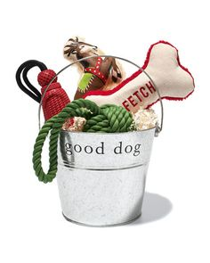 """Fill a bucket with fun treats for your """"good dog"""""""