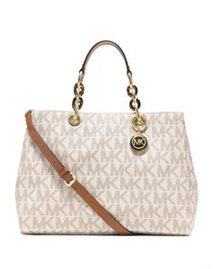 b336ac513fb2 The Michael Kors Cynthia Large Vanilla Tote is a top 10 member favorite on  Tradesy.