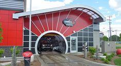 Car Wash Entrance And Exit Design In 2019 Garage Design Garage Design, Roof Design, Wall Design, Interior Car Wash, Garage Interior, Express Car Wash, Car Wash Systems, Automatic Car Wash, Car Wash Business
