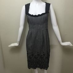 "Nanette Lepore Cio Cio San Dress bustier style This is a classic dress that can work for a business dinner or a wedding.  The beading detailing along the bottom hem is stunning and in perfect condition.  Waist: 14.5"" Hips: 18"" Chest: 16.5""  Shldrs: 13.5"". Length: 36"" Nanette Lepore Dresses"