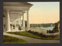 1890-1900, Saint Petersburg, Russia. Tsarskoye Selo. terrace