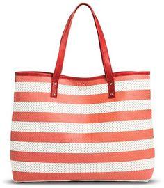 8030f0aeaa Women s Perforated Printed Reversible Tote Handbag Girls Shopping