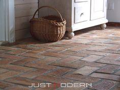 Gulvfliser Rustikk - Just Modern Brick Flooring, Graffiti Wall, Photography Backdrops, Home Bedroom, Tile Floor, Tiles, Basket, Interior Design, Home Decor