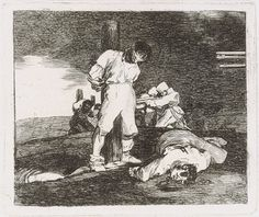 Y no hai remedio (And There's Nothing to Be Done), from Los Desastres de la Guerra (The Disasters of War), plate Francisco de Goya. Francisco Goya, Spanish Painters, Spanish Artists, Ap Art History 250, History Facts, Haitian Revolution, Composition Art, Rembrandt, Historical Maps