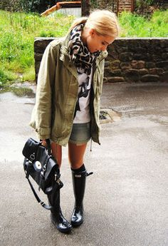 Primark Scarves / Echarpes, Blanco Jackets and Blanco Shorts – Fashion High Waist Shorts Women Cute Rainy Day Outfits, Outfit Of The Day, Fall Outfits, Summer Outfits, Cute Outfits, Primark, Spring Rain, Fashion Nail Art, Outfit Primavera