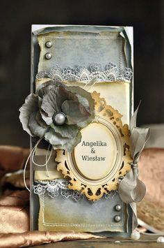 A beautiful wedding card by Ewa