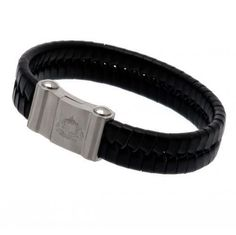 4cfd732a08a3 Sunderland A. - single plait leather bracelet- stainless steel magnetic  clasp- approx x - in a gift box- official licensed productShipped from UK