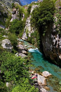 River- Rio Cares, Picos de Europa, Spain Copyright: Roland Roesler