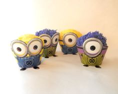 Instant Download - Despicable Me Minion Cupcake Wrapper Party Decoration Set Dispicable on Etsy, $4.00