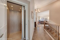 This home has an elevator to enable the homeowner to use both floors of the home as they age in place. Designed and built by Quail Homes of Vancouver Washington.