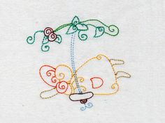 Sunbonnet Swings Machine Embroidery Designs http://www.designsbysick.com/details/sunbonnetswings