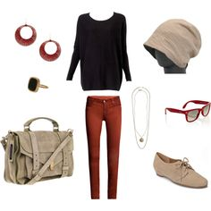 airport outfit. created by me :)
