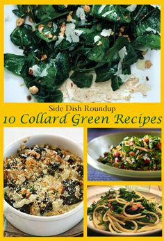 Collard Green Recipes from The Lovebugs Blog's Side Dish Roundup