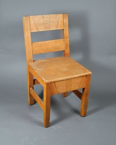 Our empty chairs have a lot to say about history. From the New Mexico History Museum's collections: One of four pine chairs with Cochiti cloud designs made by WPA artist Eliseo Rodriguez, ca. 1938.