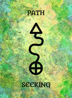 The Path (Seeking) image for the Transcendence Oracle™ card deck by Aethyrius.