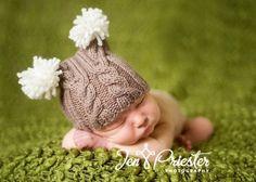 Newborn knit hats