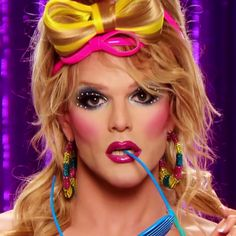 I'm a little obsessed with this wig situation on Willam.    RuPaul's Drag Race Tumblr - Lip Sync for Your Life