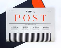 Layout design / Pencil – Pencil Post by Chloe Galea, via Behance Graphic Design Agency, Graphic Design Layouts, Graphic Design Typography, Graphic Design Inspiration, Layout Design, Branding Design, Layout Inspiration, Corporate Design, Daily Inspiration