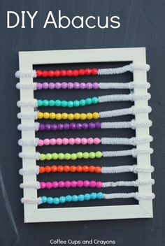 Homemade Abacus for Kids! Great hands on math practice!