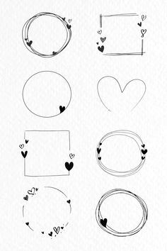 Bullet Journal Writing, Bullet Journal Ideas Pages, Love Yourself Text, Free Doodles, Doodle Frames, Background Design Vector, Love Frames, Heart Frame, Doodle Drawings