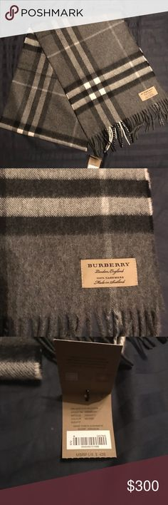 ee8762e60d99 Grey Men s Burberry scarf Grey cashmere men s Burberry scarf Burberry Other  Burberry Scarf, Cashmere,