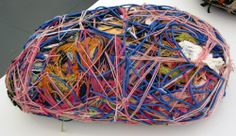 Judith Scott, an Oakland artist, creates layered objects with many different items captured within. Her outsider art has been nationally recognized and is in galleries and homes and corporations worldwide. Textile Sculpture, Soft Sculpture, Abstract Sculpture, Harry Green, Tracey Emin, Yarn Bombing, Outsider Art, Art Object, Fiber Art