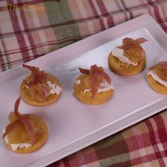 Pear Compote with Goat Cheese & Prosciutto by Clinton Kelly! #TheChew