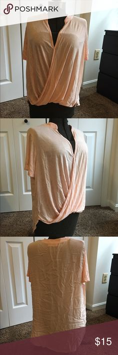 Apricot shirt / tee New without tag, apricot soul cake shirt, size XL, 100% rayon, made in USA soul cake Tops