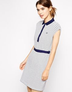 Fred Perry Striped Polo Shirt Dress