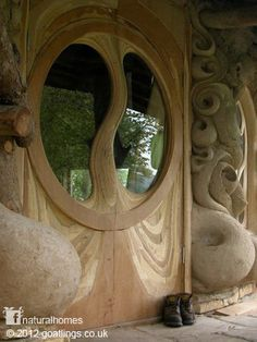 A detail of a cob house in Somerset by Goatlings