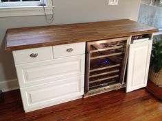 Could we build something like this with the fridge and existing buffet?