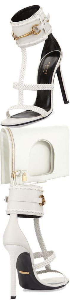 Gucci Ursula Braided Leather Sandal