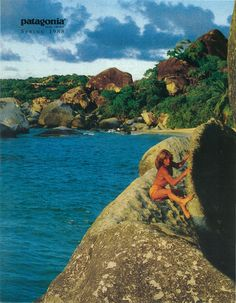 Lynn Hill on the cover of the Patagonia 1988 Spring Catalogue #patagonia #80s