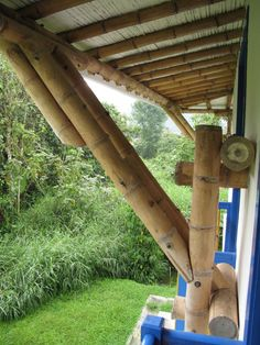 Pergola With Metal Roof Bamboo Roof, Bamboo Ceiling, Bamboo Fence, Pergola With Roof, Diy Pergola, Pergola Kits, Bamboo Fountain, Bamboo House Design, Bamboo Structure