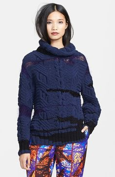 Risto Chunky Cable Knit Turtleneck Sweater available at #Nordstrom