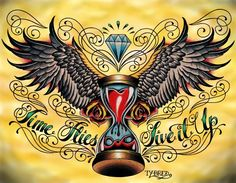 Time Flies Tattoo Designs Time flies by tyler bredeweg wings tattoo ...