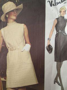 Patron de couture vintage Vogue 2439, Mod robe Valentino Design.1970s Dress Pattern, Vogue Couturier, Design Pattern, buste 34, Sixties Mod