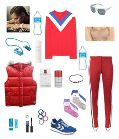 """At the forefront of sports fashion"" by lorablack ❤ liked on Polyvore featuring Tory Sport, Gucci, ESCADA, Dolce&Gabbana, Eyeko, COOLA Suncare, Hummel, Pyle, L. Erickson and Native Eyewear"